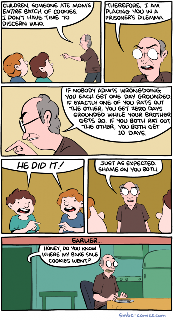 SMBC: Game Theory Parenting